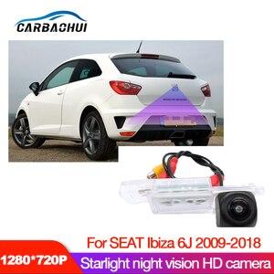 Câmera de visão traseira do carro hd para seat ibiza 6j 2009 2010 2012 2014 2016 2018 ccd visão noturna placa câmera reversa