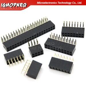 2,54 мм R/A двухрядный гнездовой разъем 2 ~ 40P печатная плата прямоугольный штырьковый коннектор Pinheader 2 */4/6/10/20/40Pin для Arduino