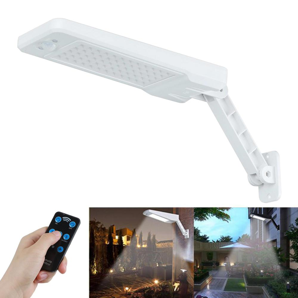 60LEDs Wireless Remote Control Outdoor Wall Mount emitting-color: Black|White  https://flxicart.com