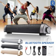 VTIN Wireless Bluetooth Speaker 4.2 SoundBar Remote Control TF Card TV Cellphone Tablet Surround Sound System TV Speaker 3Colors bluetooth sound bar tv speaker wireless speaker soundbar 3d surround stereo subwoofer for tv home theatre system remote control