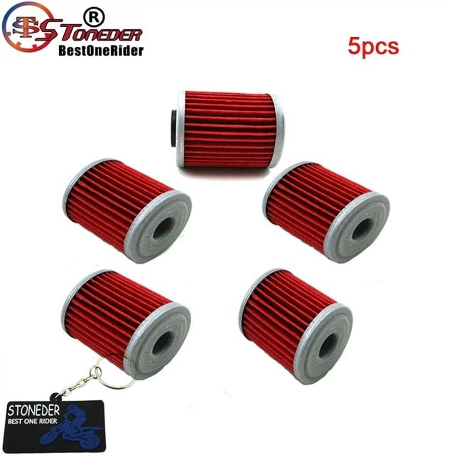 STONEDER 5x Oil Filter For KAWASAKI KX450F KX250F KX250 SUZUKI RMZ450 RMZ250 RMX450Z FL125 SDW BETA EVO 250 300 SPORT 4 STROKE
