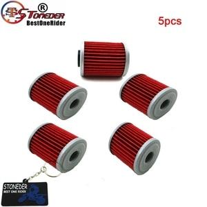 Image 1 - STONEDER 5x filtr oleju dla KAWASAKI KX450F KX250F KX250 SUZUKI RMZ450 RMZ250 RMX450Z FL125 SDW BETA EVO 250 300 SPORT 4 suwowy