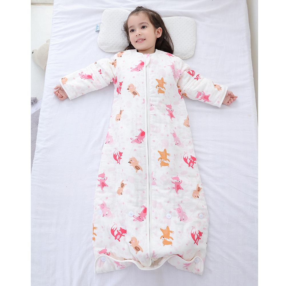 Cotton Baby Sleeping Bag Newborn Sleep Sack Long Sleeve Baby Sleeper Detachable Sleeve Newborn Envelop Sleepsacks