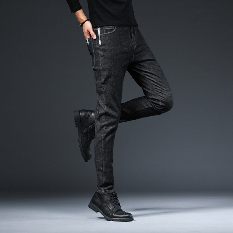 New Autumn And Winter Elastic Cowboy Trousers Men