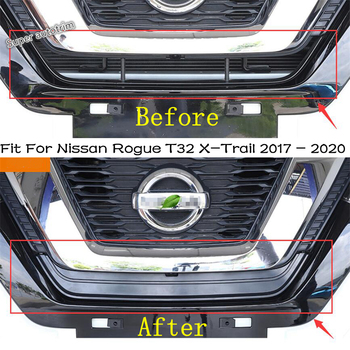 Lapetus Front Grille Insect Net Insect-proof Leaves Cover Trim Fit For Nissan Rogue T32 X-Trail 2017 - 2020 Accessories Exterior 1
