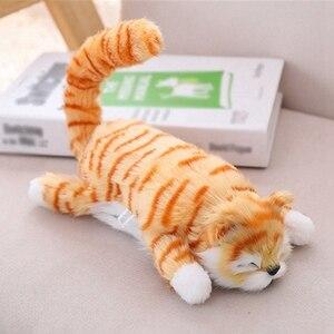 Simulación eléctrica de peluche de gato de peluche s juguetes que se mueven riéndose gato de peluche muñeca juguetes para niños mascota juguete interactivo mordedor para perro gato LL
