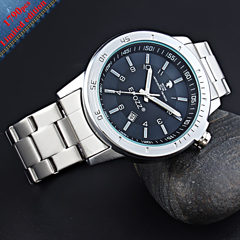 EPOZZ Memorial Tory Hector Limited Edition Analog Mens Watches Casual Relogio Masculino Stainless Steel Strap Male Clock Quartz