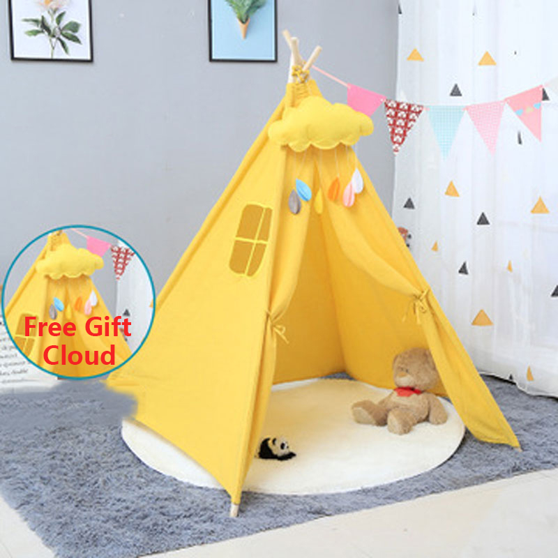 Portable Children's Tent Kids Tent Teepee Indian Tipi Tents Children's House Indoor Ball Pool Toys For Boys Christmas Gifts