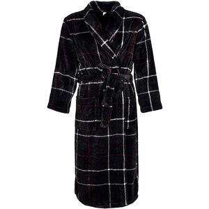 Image 3 - Women Winter Plaid Plus Size Long Flannel Bathrobe Warm Kimono 40 130KG Bath Robe Cozy Robes Dressing Gown Men Night Sleepwear