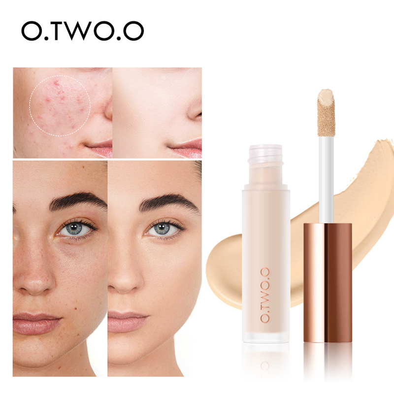 O.TWO.O Full Cover Liquid Concealer Cream Waterproof Natural Whitening 4 Colors  Long Lasting Eye Dark Circles Cream Corrector