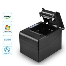 80mm Pos 바코드 영수증 빌 열전 사 프린터 wih 고속 300 미리메터/초 USB LAN 블루투스 사용 자동 커터가있는 주방