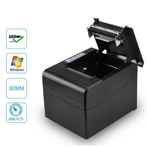 "Image 1 - 80mm קופה ברקוד קבלת הצעת חוק תרמית מדפסת wih במהירות גבוהה עבור 300 מ""מ\שנייה עם USB LAN bluetooth להשתמש עבור מטבח עם חותך אוטומטי"