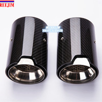 2 Piece Real Carbon Fiber Exhaust tip For BMW M Performance exhaust pipe M2 F87 M3 F80 M4 F82 F83 M5 F10 M6 F12 F13 X5M X6M|Mufflers|Automobiles & Motorcycles -