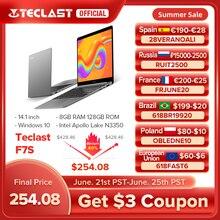 Teclast F7S 14.1″ Laptop Notebook 8GB RAM 128GB ROM Laptops Intel Apollo Lake Dual Wifi Computer 1920×1080 IPS Windows 10