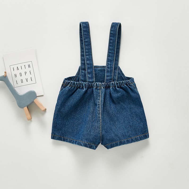 2021 Spring Autumn New Baby Overalls Boys Girls Denim Overalls Kids Jumpsuit Korean Fashion Children Denim Shorts