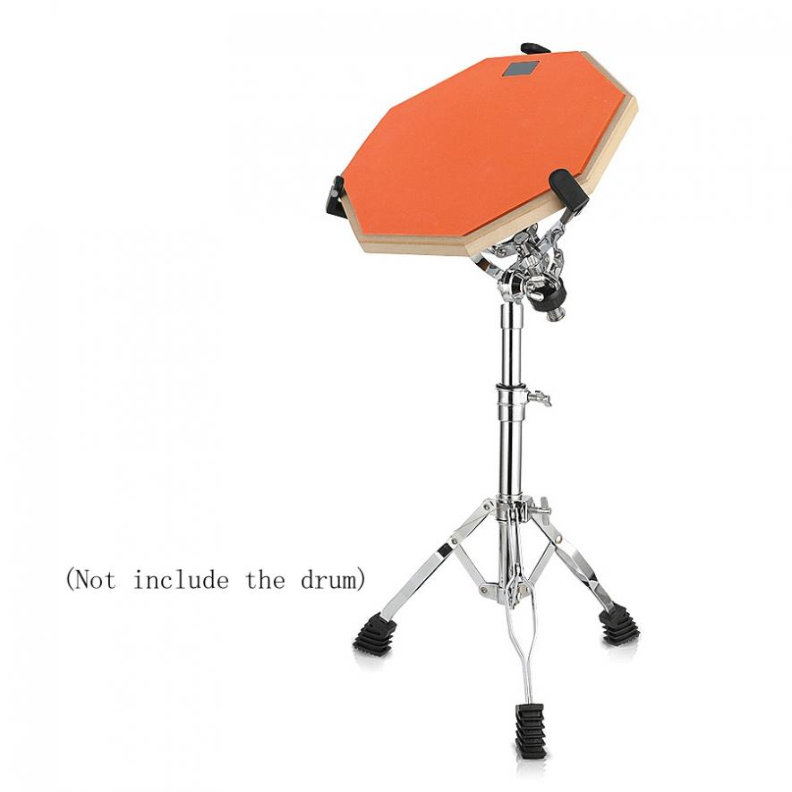 Купить с кэшбэком Full Metal High Quality Portable Adjustment Foldable Floor Drum Stands Holder for 10 12 Inch Jazz Snare Dumb Drum