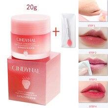 Coreia dos lábios cuidado lábio sono máscara noite sono hidratado manutenção lábio bálsamo rosa lábios clareamento creme nutrir proteger 3g