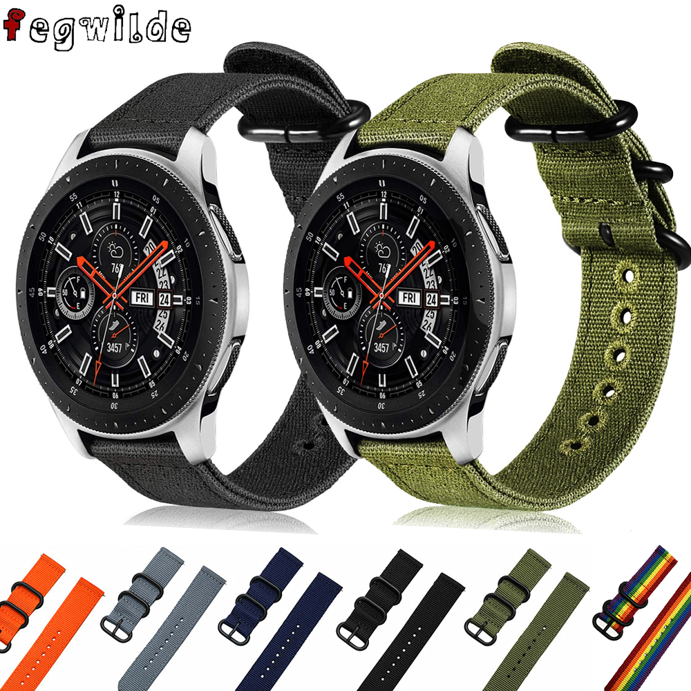 Galaxy Watch 46mm For Samsung Gear S3 Frontier Active 2 Amazfit Bip Huawei Watch Gt Nato Strap 22mm Watch Band Smart Watchband