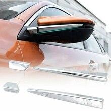 Stickers Trim-Cover Rear-View-Mirror-Pillar for Honda Civic Anti-Rub-Strips Side-Door
