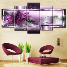 5 шт красочные цветочные настенные художественные простые элегантные