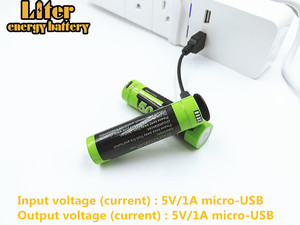 Image 2 - Laptop battery 4PCS 4 LED Indicator USB 5000M 18650 3.7V 3500mAh charging battery Intelligence Li ion Rechargeable Battery