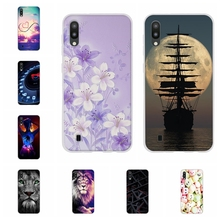 For Samsung Galaxy M10 Case Soft TPU Silicone SM-M105F Cover Cat Patterned Coque