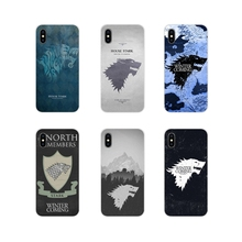 For Huawei G7 G8 P7 P8 P9 P10 P20 P30 Lite Mini Pro P Smart Plus 2017 2018 2019 Silicone Shell Case games of Thrones House Stark