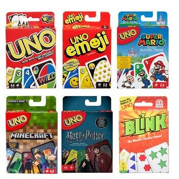 Juegos de cartas Mattel UNO de Harry Potter, Super Mario, Emoji, el juego más rápido del mundo, juego de cartas de fiesta divertido