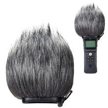 Микрофон лобовое стекло шумоподавление открытый съемный ветрозащитный для Zoom H1 DXAB