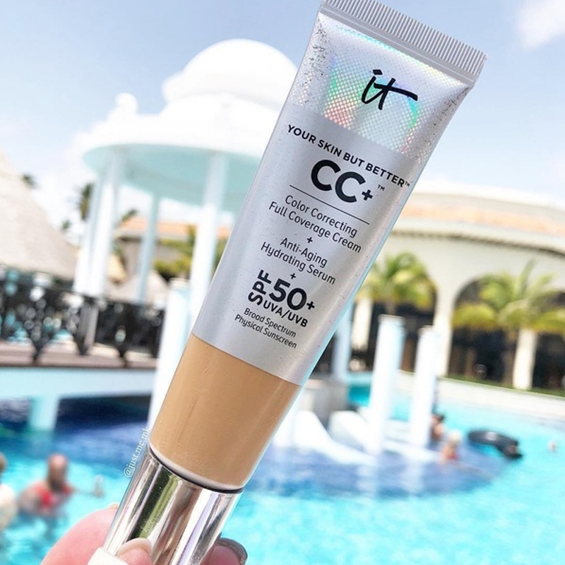 It Cosmetic Your Skin But Better CC+ Foundation Cream Full Coverage Concealer Color Corrector Matte Base Makeup image