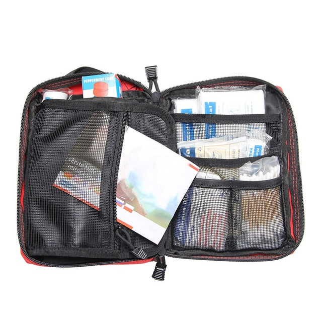 Nylon Waterproof anti-corrosion First Aid Kit Bag Emergency Kits Portable Medical Package For Outdoor Tour Camping Travel Surviv 3