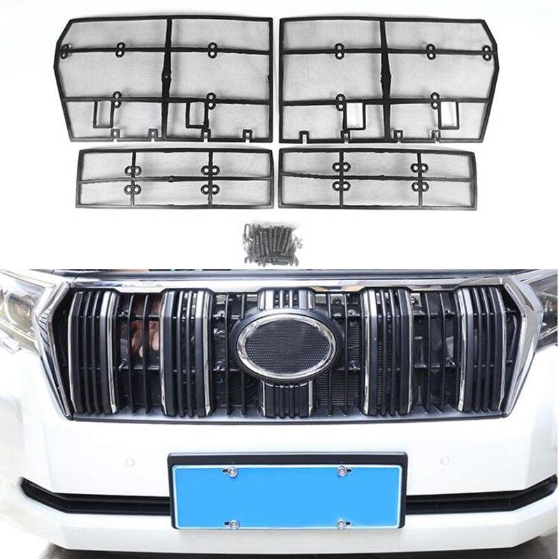 Filet d'insertion de Grille avant de maille de criblage d'insecte de voiture pour des accessoires de Toyota Land Cruiser Prado 150 2010-2018 J150 LC150 FJ150