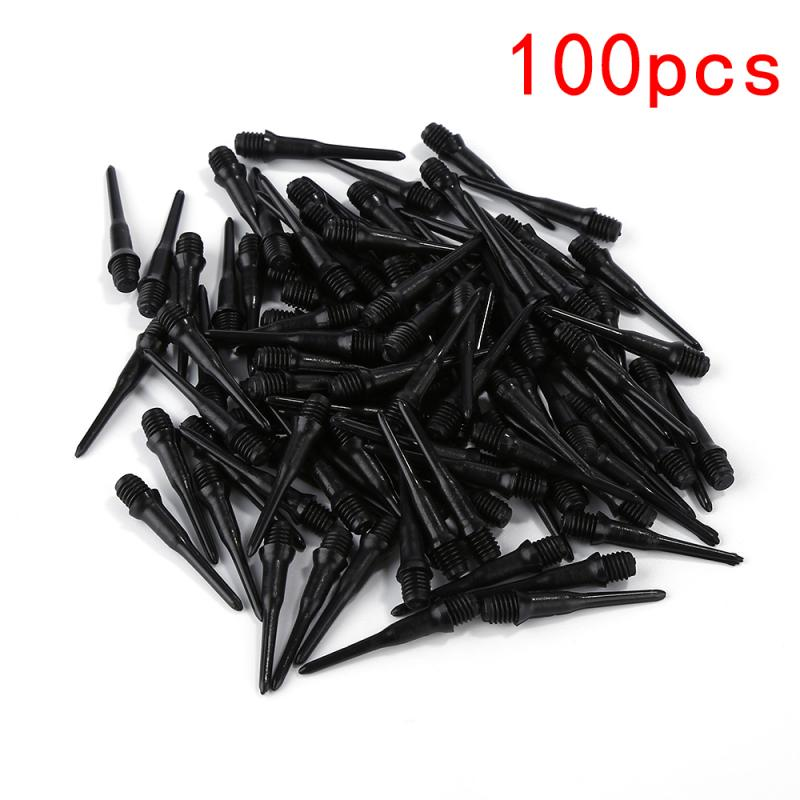 100pcs Black Electronic Dart Professional Plastic Dart Needle Replacement Durable Soft Pin Replacement Kit