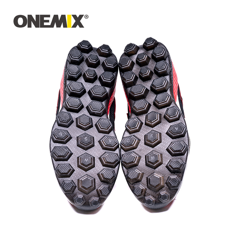 [Disc 40.01%] ONEMIX Men Soccer Shoes Cleats Turf Football Shoes TF Hard Court Sneakers Soccer Cleats Training Boots Athletic Sport Shoes