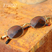 Vintage John Lennon Retro Steampunk Polarized Sunglasses Pilot Simple Small Roun