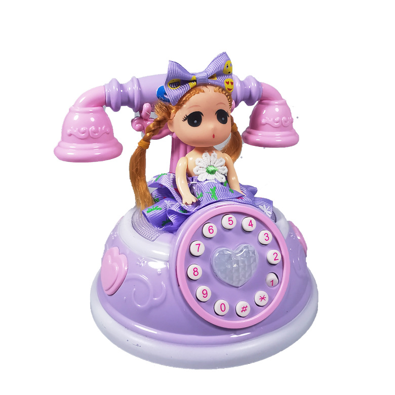 Simulation Phone Princess Toy With Music Electronic Voice Wheel Phone Puzzle Early Education 3-6 Years Old Simulation Phone Toy