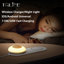 Wireless Night Light Charger Angel Wings with LED Magnetic Attraction USB Fast Charging For iPhone Samsung Huawei Xiaomi Phone