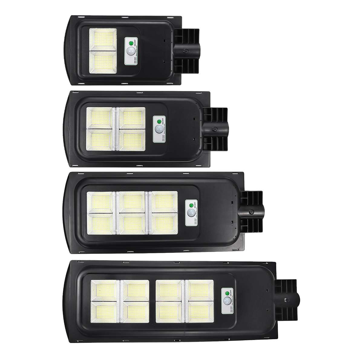 Polycrystalline 208/416/624/832 LED Solar Street Light Wall Light Outdoor Garden Street Pathway Lamp Waterproof Road Floodlight