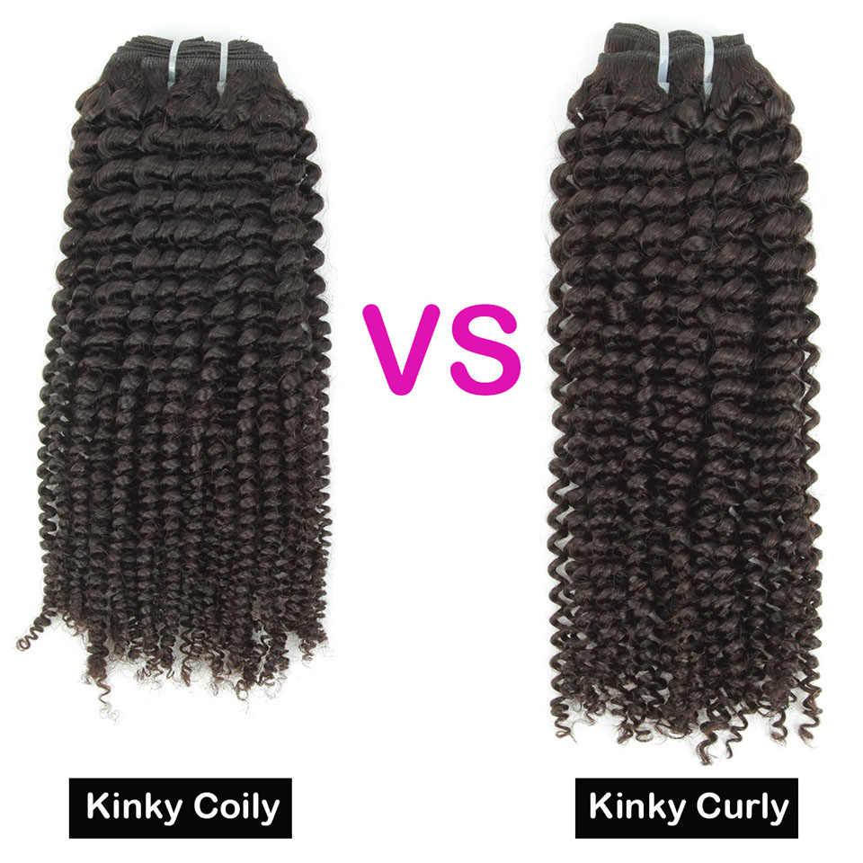 YVONNE 4B 4C странный Coily бразильские волосы Virgin (не подвергавшиеся химическому воздействию) в пучках 1/3/4 пряди, текстильно необработанные человеческие волосы, натуральный Цвет