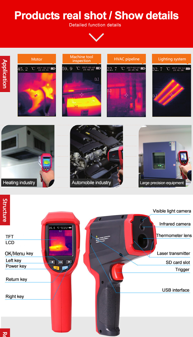 UNI-T Thermal Imaging Camera With SD Card Slot And USB Interface 10