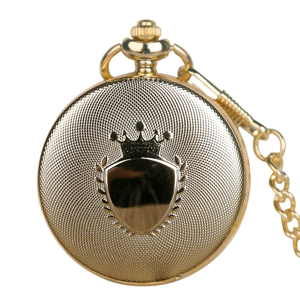 New Arrival Quartz Pocket Watch Steampunk Imperial Crown Creative Pendant Exquisite Necklace Watches With Chain Clock Gifts