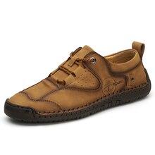 Классические Удобные Мужчины Повседневная Обувь Мокасины Качество Сплит Кожа Квартиры Мокасины Горячие Продажи Плюс Размер