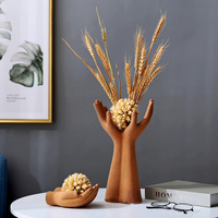 Creative hand held style home decoration vase Fashion hand gesture art office vase