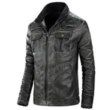 Veste Jacket Jaqueta Stand-Collar Cowhide-Coat Motorcycle Vintage Mens Male Casual Cuir