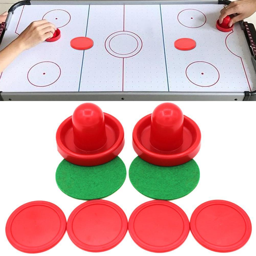 Air Hockey Accessories 76mm Batter Table Ice Hockey Putters Tabl Pucks Game Table Entertaining Accessories Set Adult Hockey M7Y6