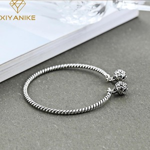 XIYANIKE 925 Sterling Silver Hot Sale Vintage Bell Weaving Bangles & Bracelet National Style Creative Jewelry For Women Gift(China)
