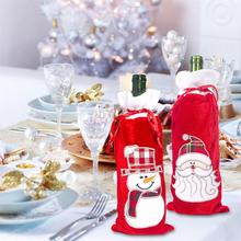 2019 Christmas Wine Bottle Sweater Holiday Champagne Cover For Party Dinning-table Decorations Home Decors