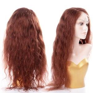 Image 2 - Peluca con malla frontal, Color degradado, cuerpo ondulado, 13x4, cabello humano brasileño negro Natural, peluca con 4x4, pelucas con cierre de encaje para mujer