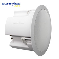 PA System Speaker 8Ohm Coaxial 5inch Woofer Wall Mounted Coaxial Ceiling Speaker For Background Music Controller Amplifier