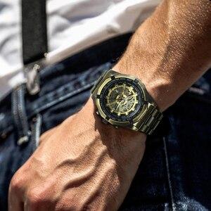 Image 4 - を勝者腕時計メンズスケルトン自動機械式時計ゴールドスケルトンヴィンテージ男の腕時計メンズforsining腕時計トップブランドの高級